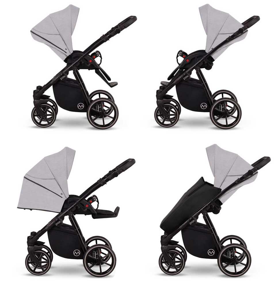 wózek Lonex Pax dziecięcy wielofunkcyjny nowoczesny spacerówka funkcje Dadi Shop