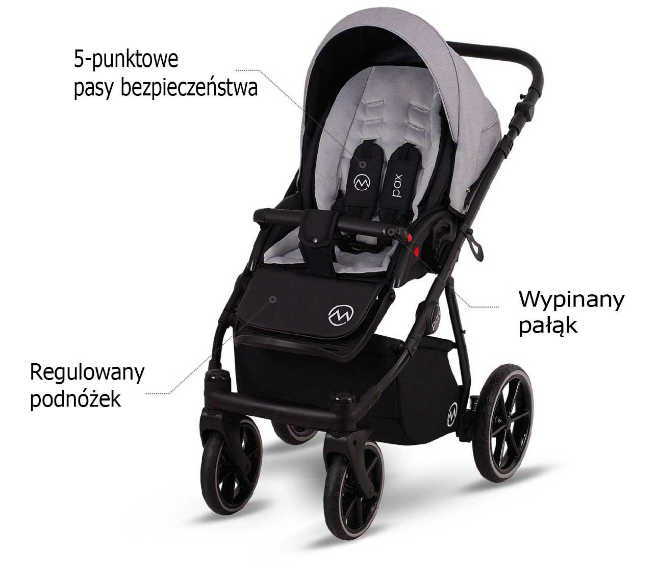 wózek spacerowy Lonex Pax wielofunkcyjny dziecięcy opis