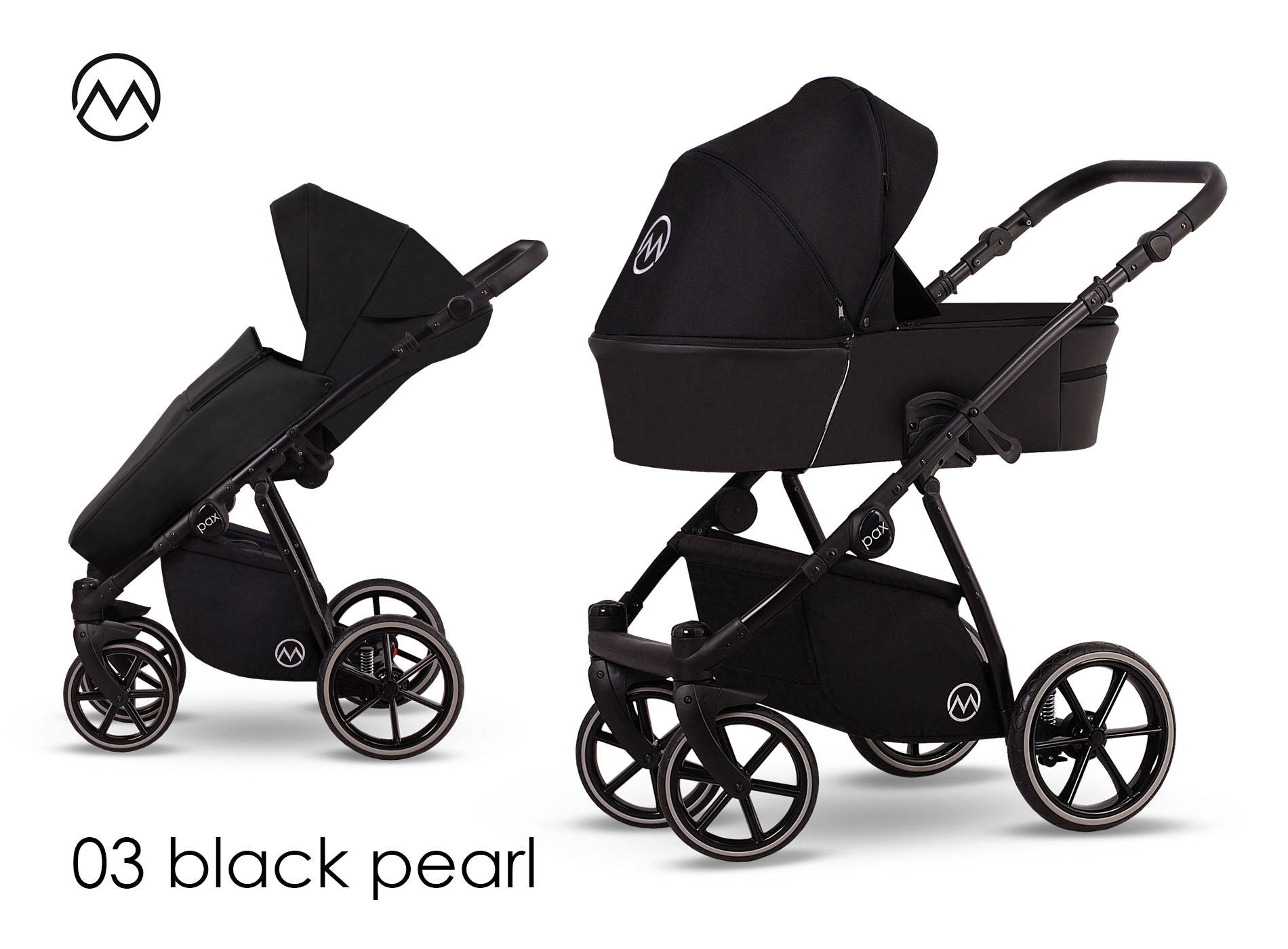wielofunkcyjny dziecięcy wózek Lonex Pax czarny