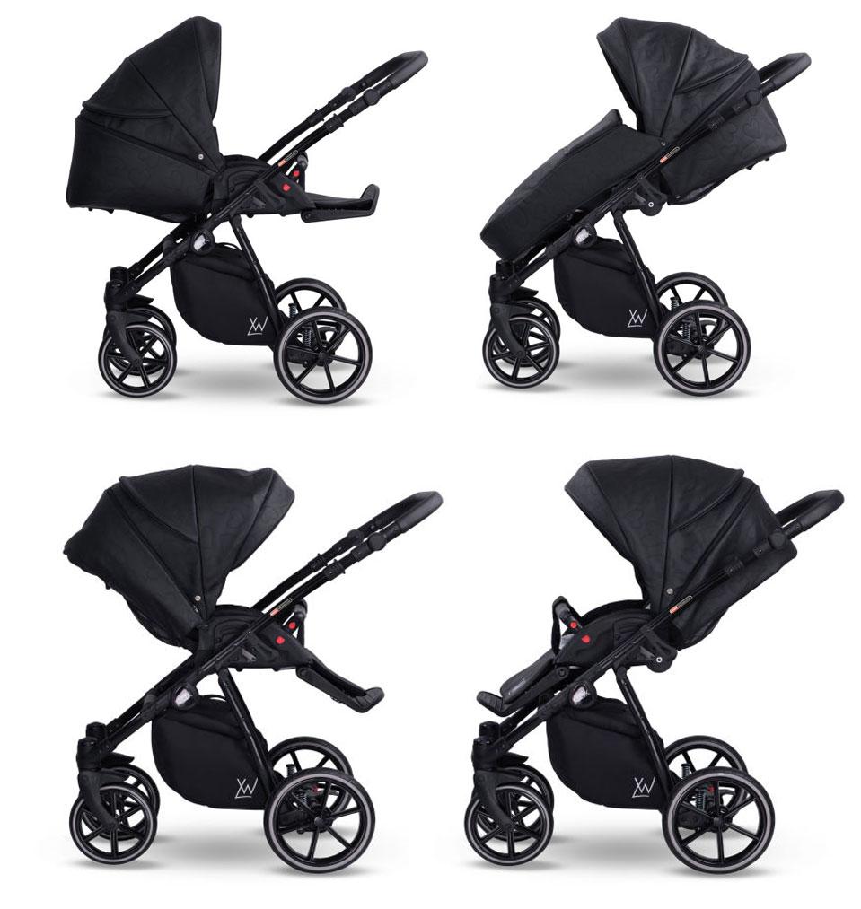 wózek Lonex Pax Eco  dziecięcy wielofunkcyjny nowoczesny spacerówka funkcje Dadi Shop