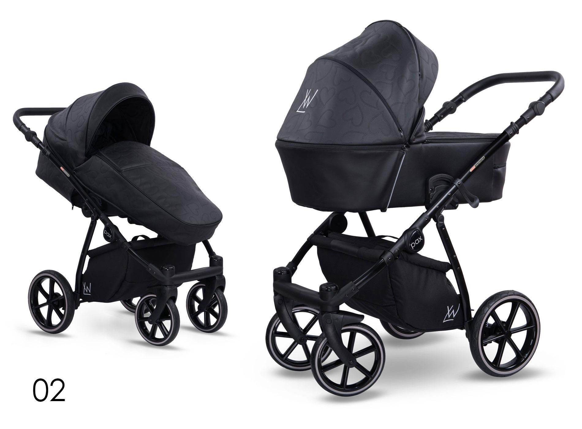 wózek wielofunkcyjny Pax Eco Lonex czarny z paskami