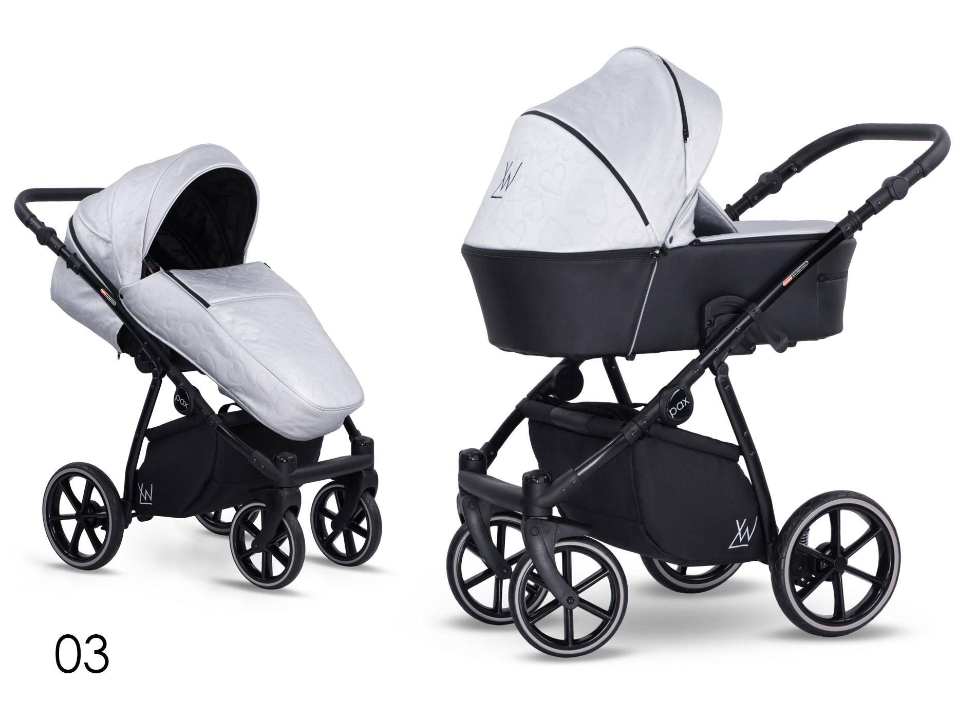wielofunkcyjny dziecięcy wózek Lonex  Eco Pax czarny