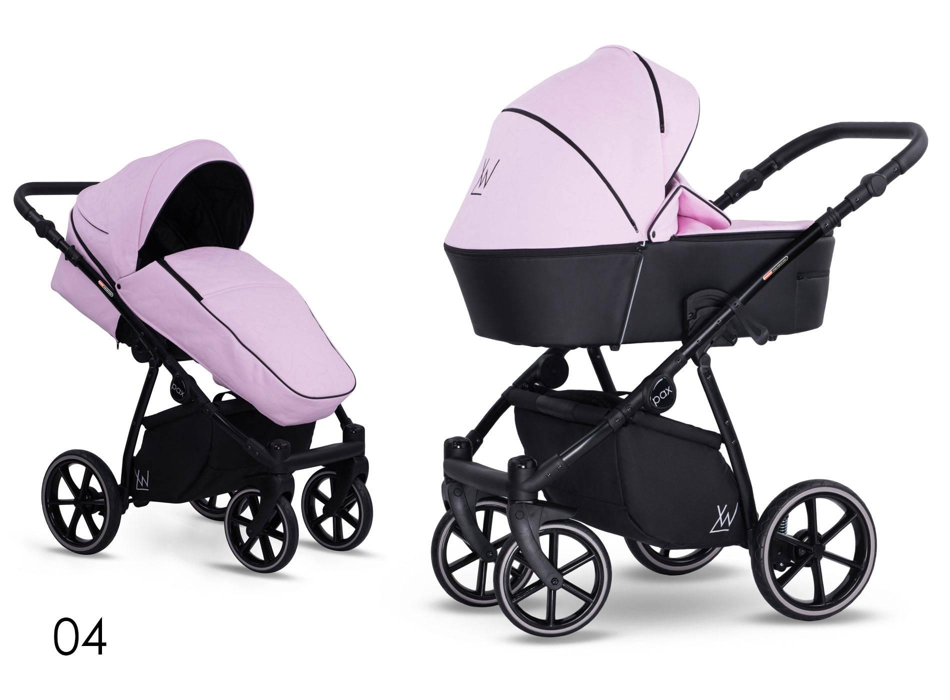wózek wielofunkcyjny dziecięcy Pax Eco Lonex wzór kwiaty