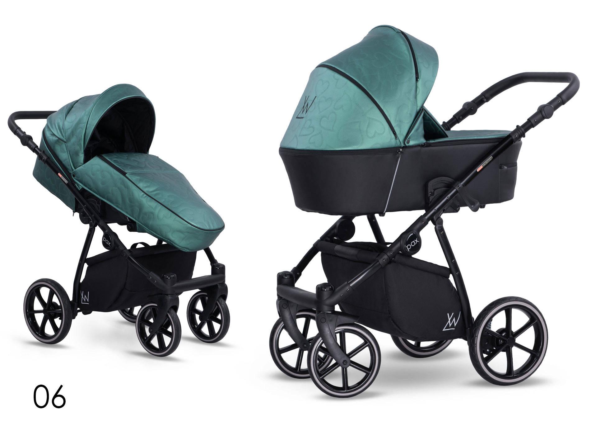 wózek Pax Eco wielofunkcyjny dziecięcy Lonex zielona eco skóra Dadi Shop