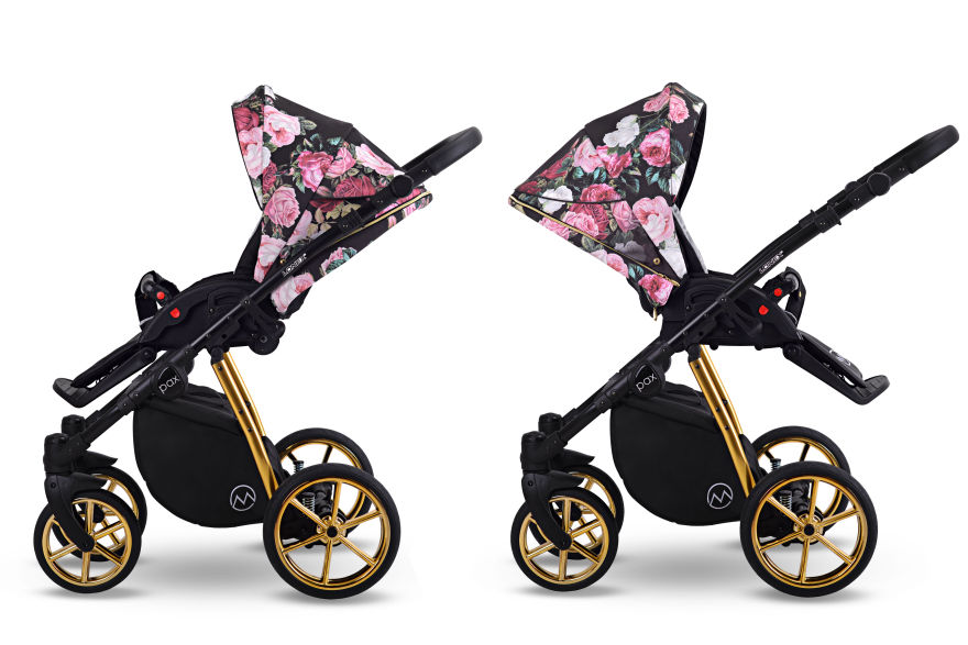 nowość Lonex wózek Pax Rose wielofunkcyjny w kwiatu spacerówka Dadi Shop