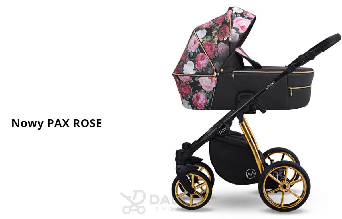 unikatowy wózek Pax Rose Lonex dziecięcy wielofunkcyjny nowoczesny w kwiaty nowość Dadi Shop