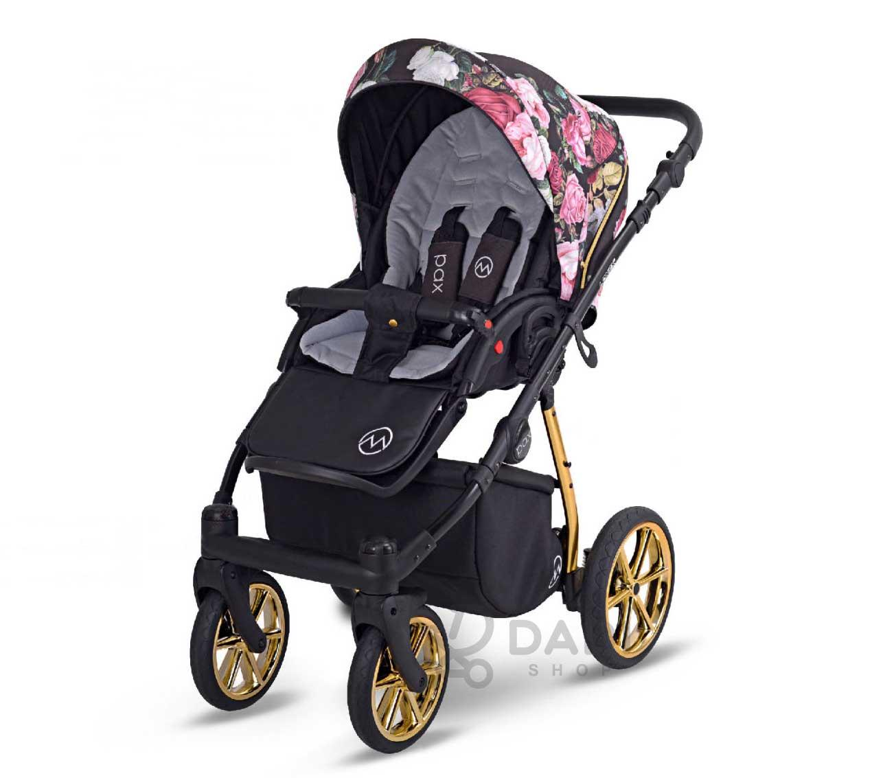 lekka spacerówka wózek Pax Rose Lonex wielofunkcyjny dziecięcy w wkiaty nowość