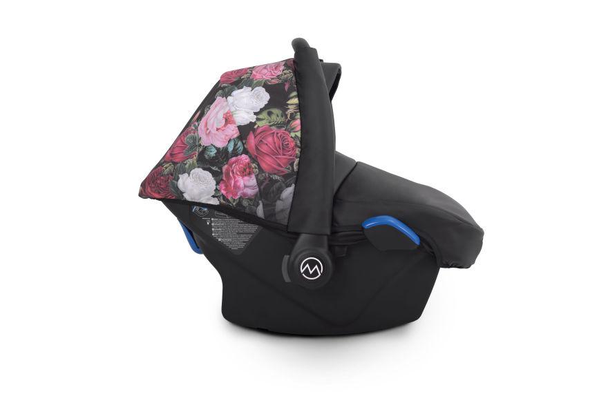 wózek Rose Pax Lonex wielofunkcyjny nowość z fotelikiem w kwiaty Dadi Shop
