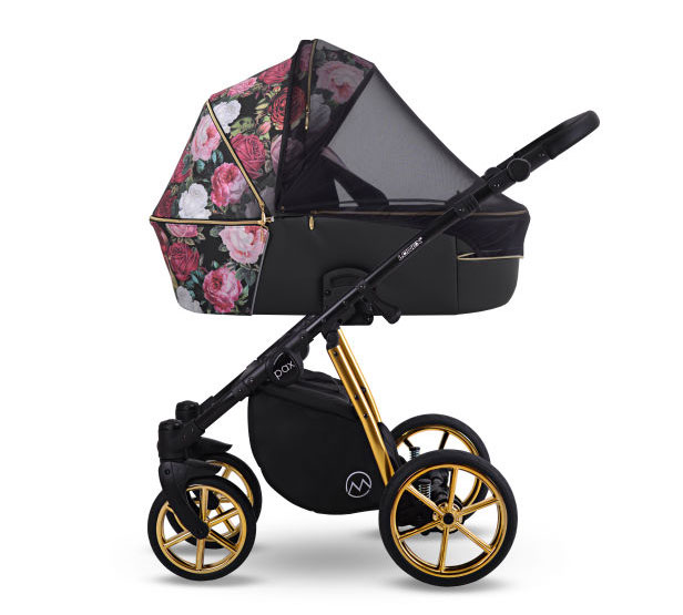 wózek Pax Rose Lonex dziecięcy wielofunkcyjny głęboko spacerowy w kwiaty Dadi Shop
