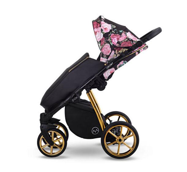 Pax Rose wózek dziecięcy Lonex wielofunkcyjny spacerowy w kwiaty nowość
