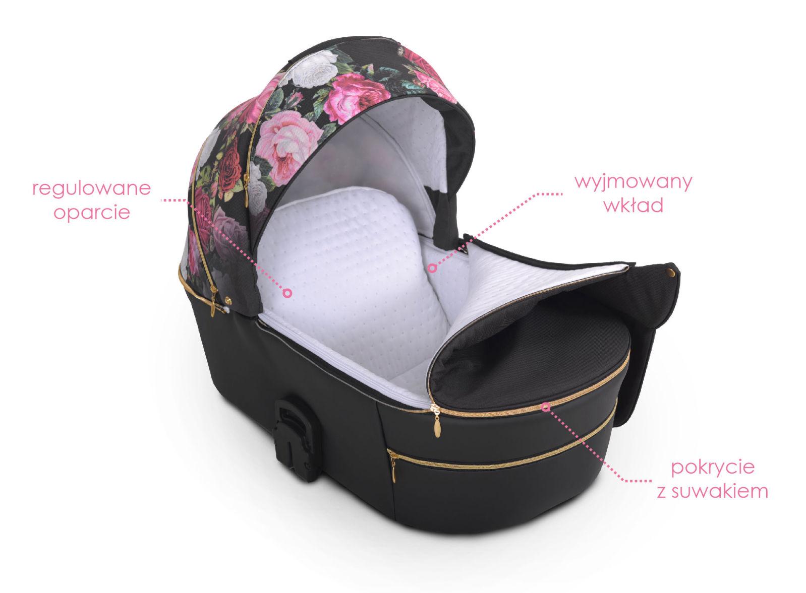 Lonex Pax Rose wózek dziecięcy wielofunkcyjny nowośc w kwiaty Dadi Shop