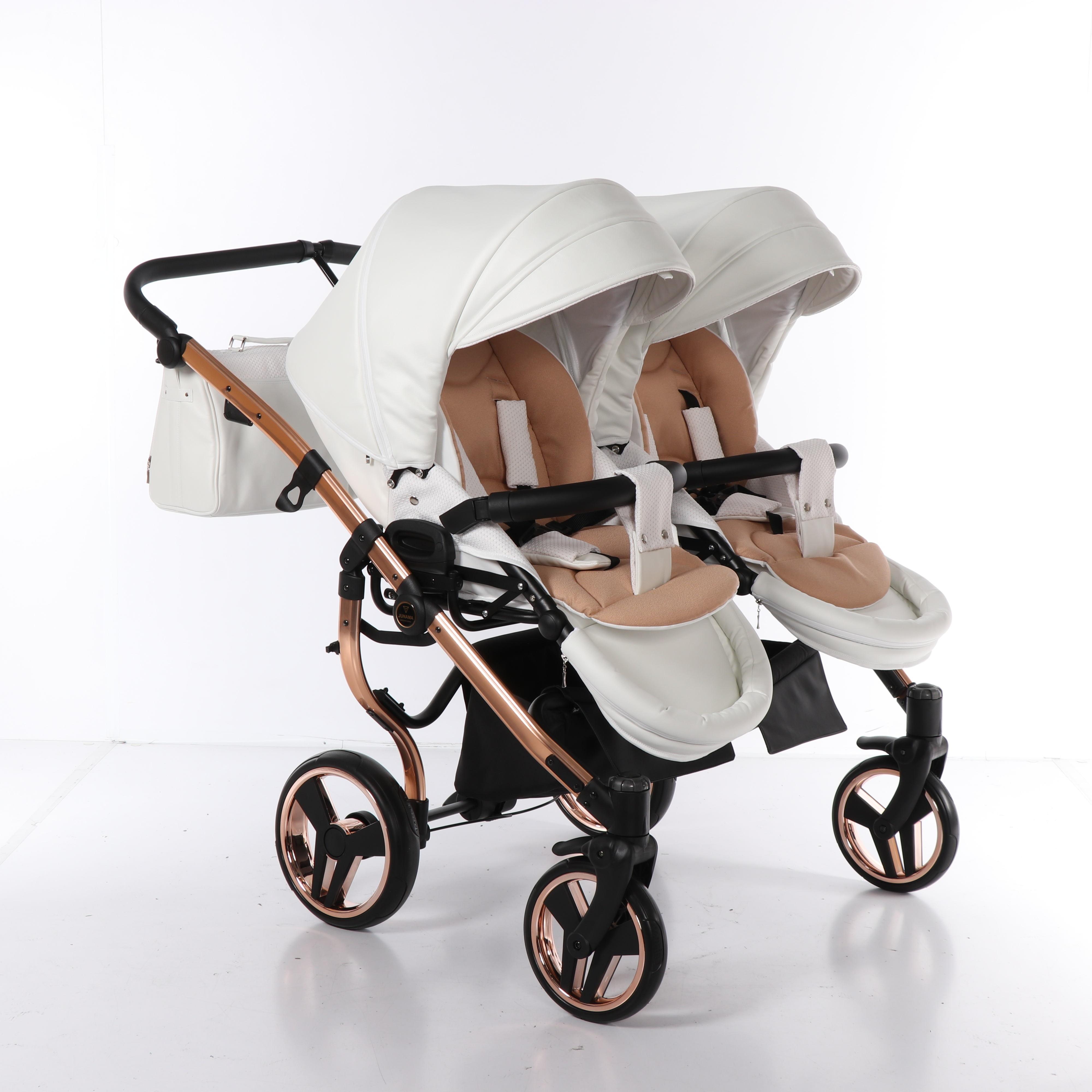 Junama Mirror Satin Duo wózek wielofunkcyjny bliźniaczy