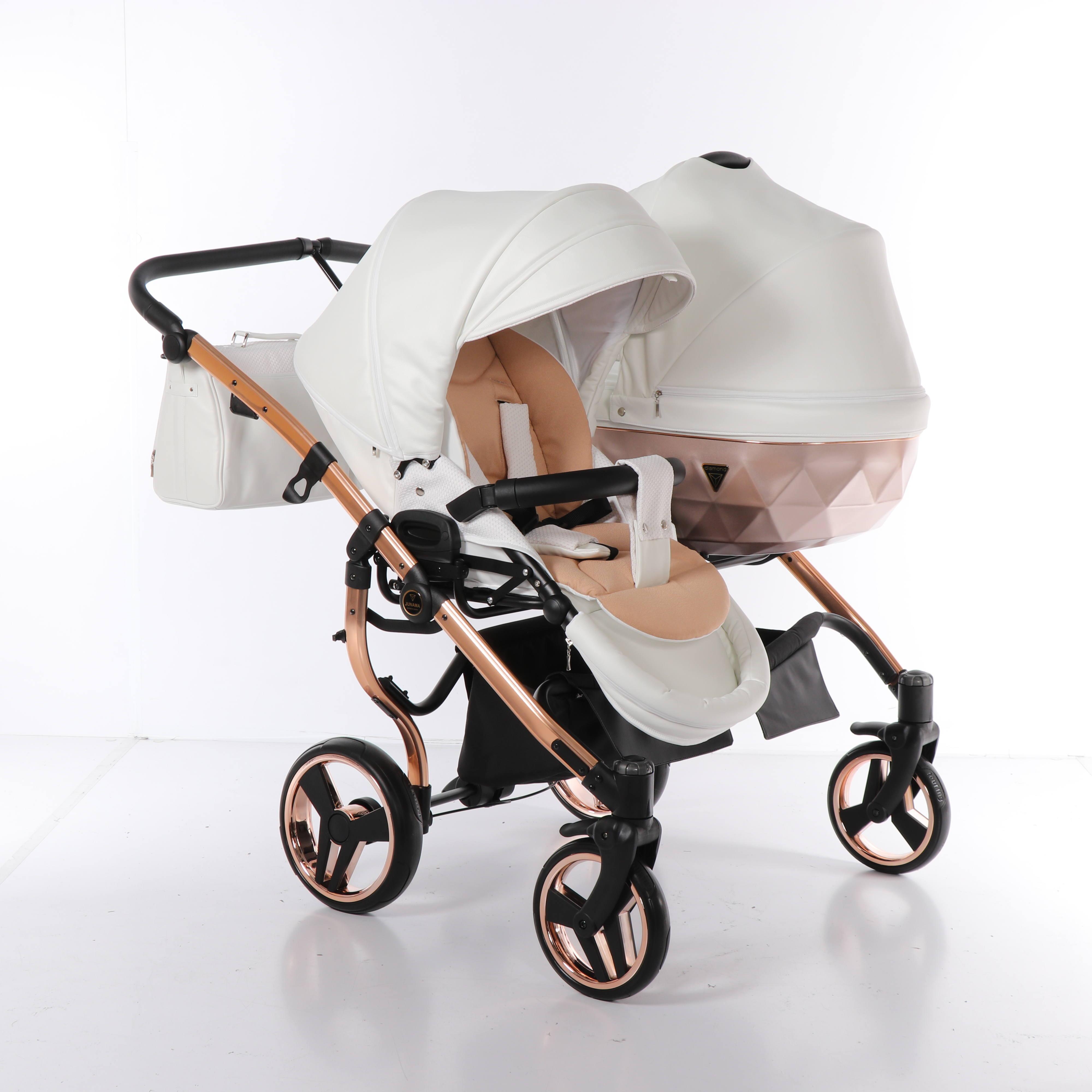 wózek dziecięcy bliźniaczy Mirror Satin Junama