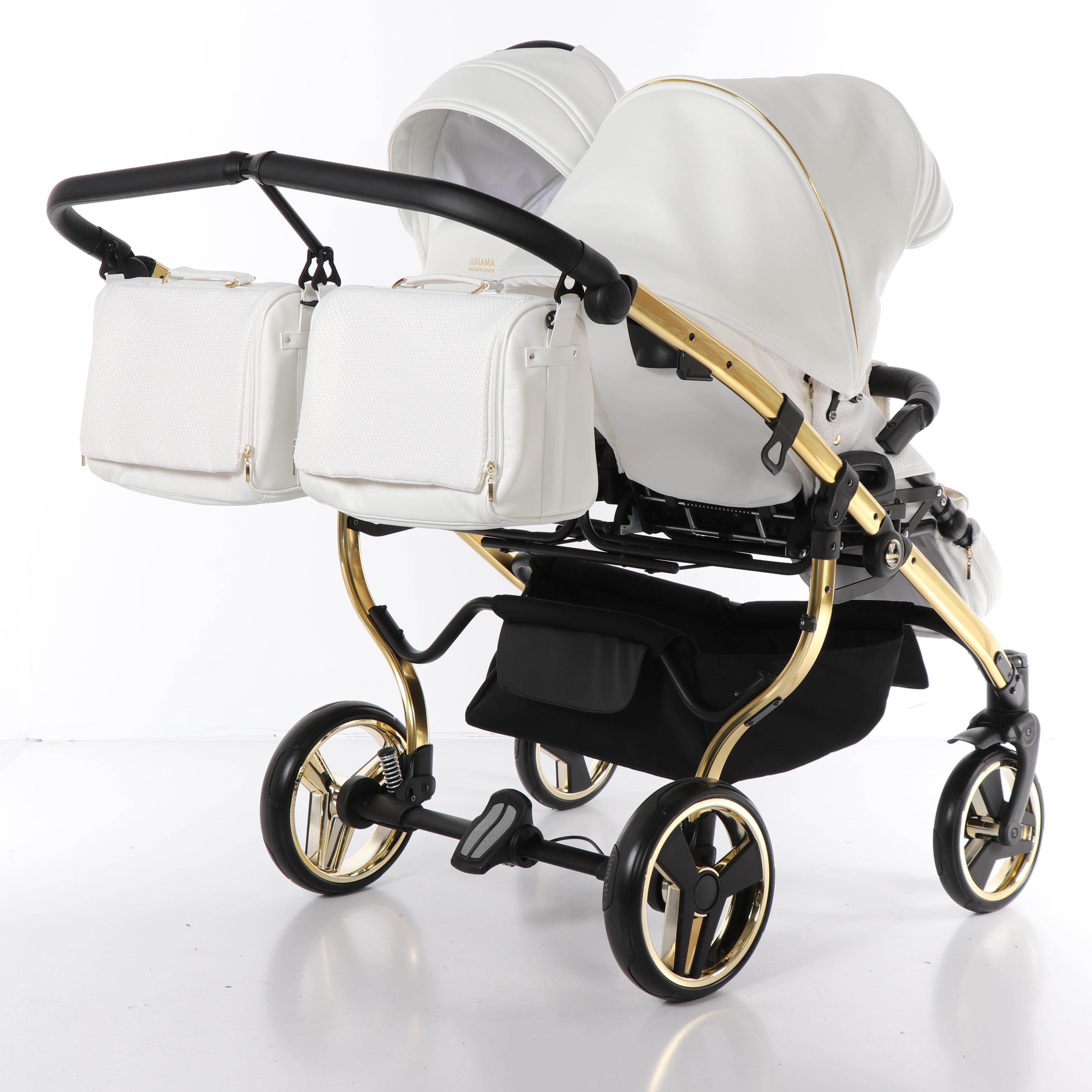 wózek bliźniaczy wielofunkcyjny Junama Mirror Satin Duo