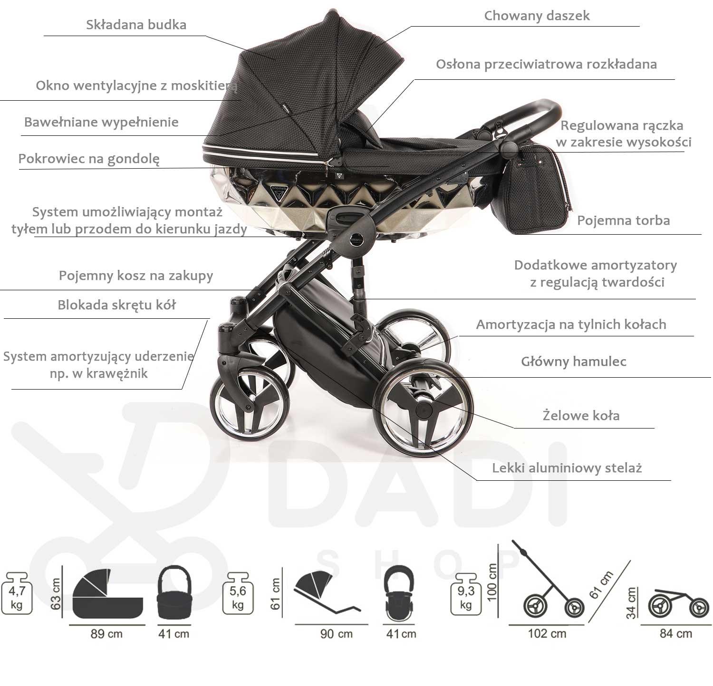wózek Junama Mirror opis Dadi Shop