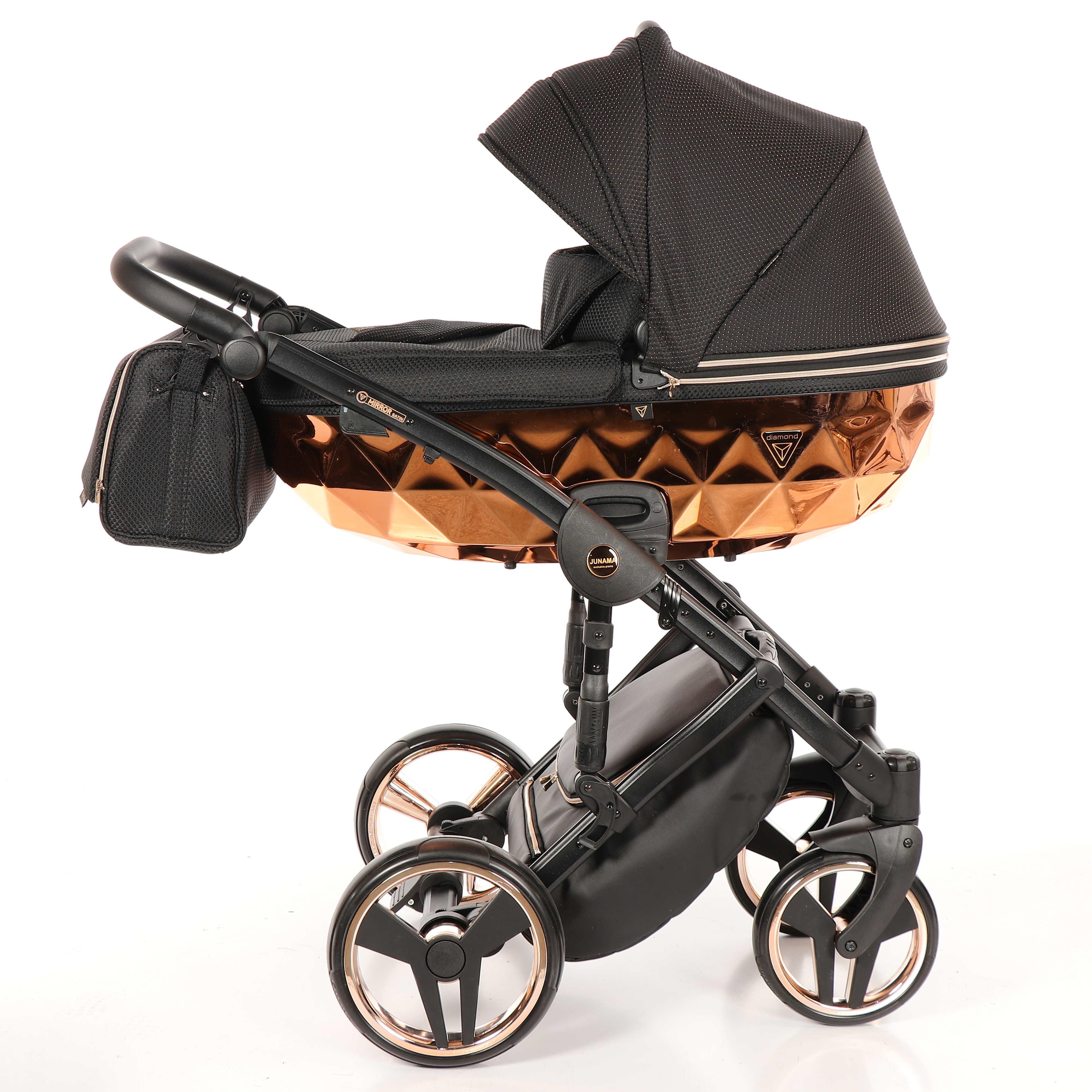 wózek dziecięcy Junama Mirror Błysk wielofunkcyjny miedziany 01 Dadi Shop