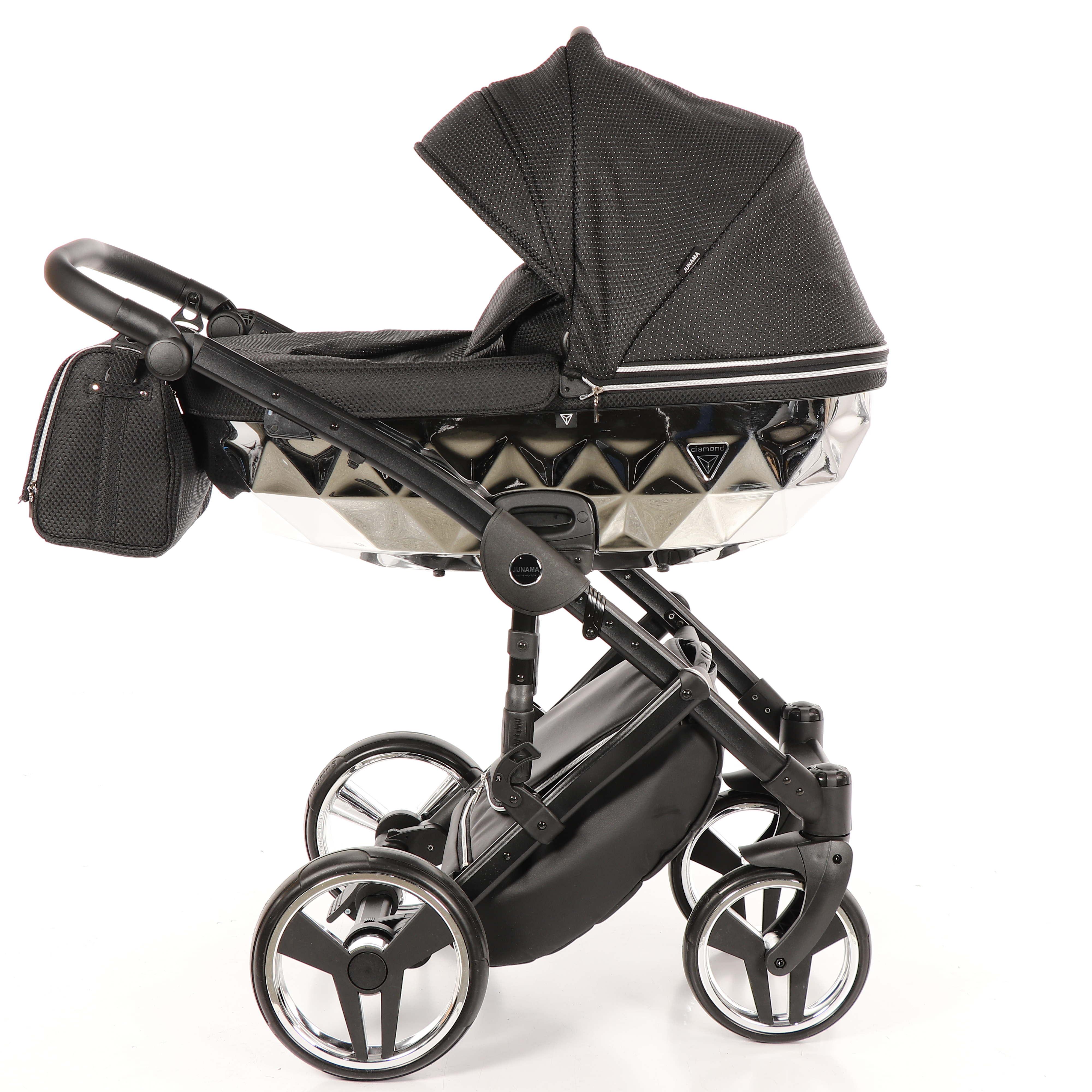 wielfunkcyjny wózek dzieciecy Junama Mirror Błysk srebrny 03