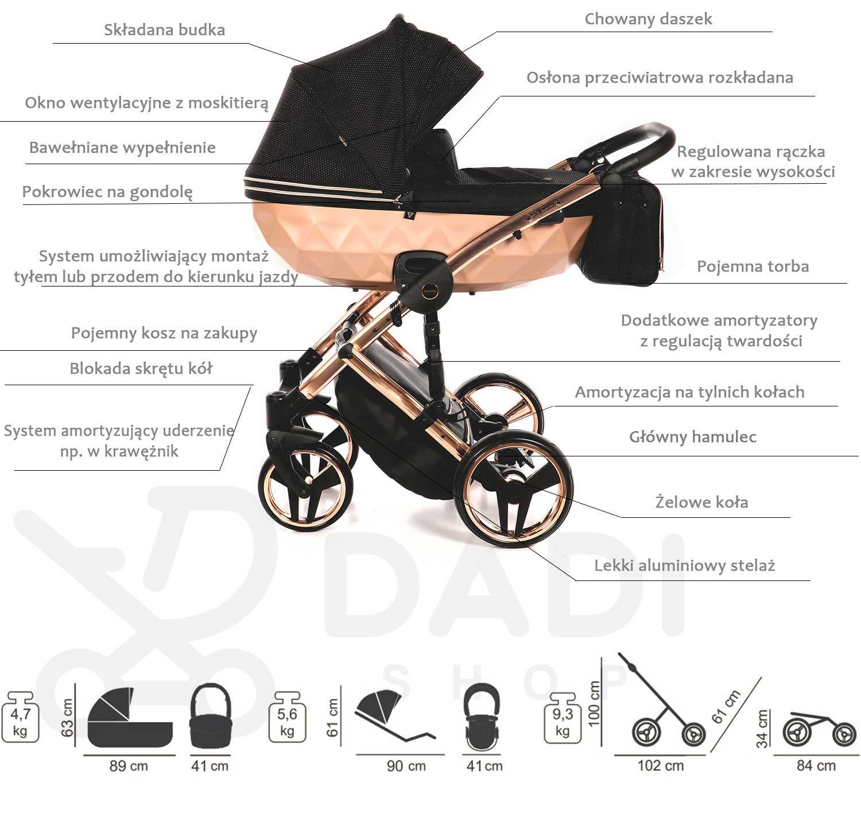 Mirror Satin wózek dziecięcy Junama opis wózka Dadi Shop