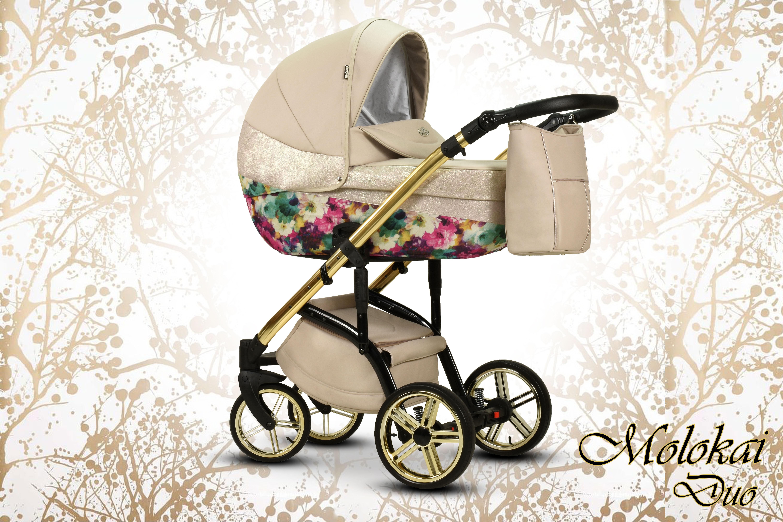 wózek dziecięcy Molokai Duo wielofunkcyjny Wiejar nowość Dadi Shop stylowy wóżek w kwiaty