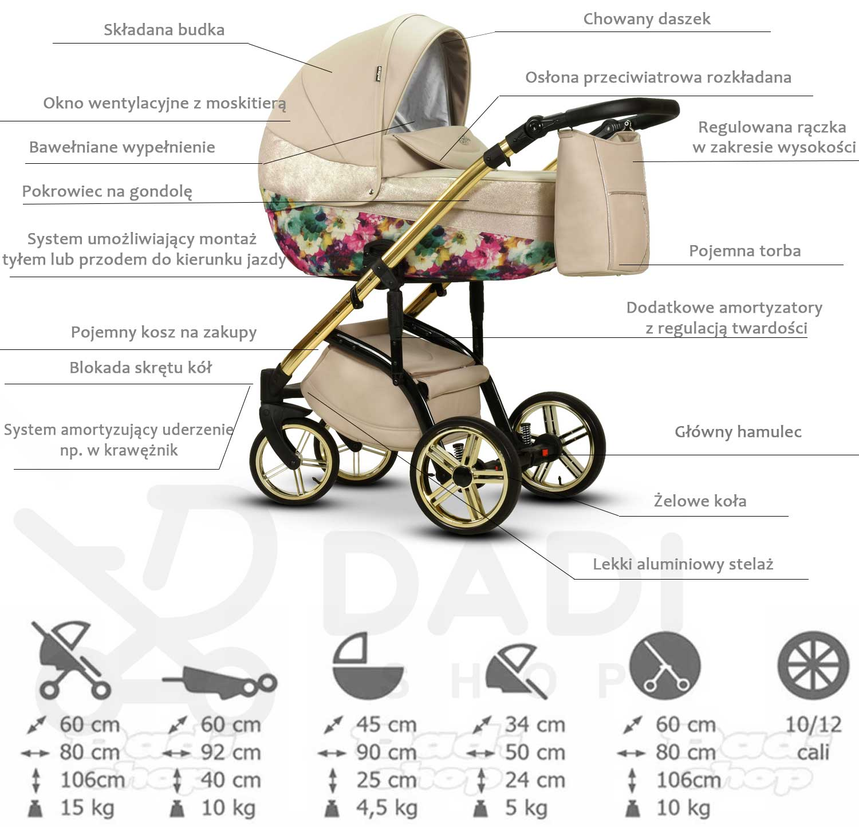wózek dziecięcy Moloka Duo wielofunkcyjny Wiejar opiswózka Dadi Shop