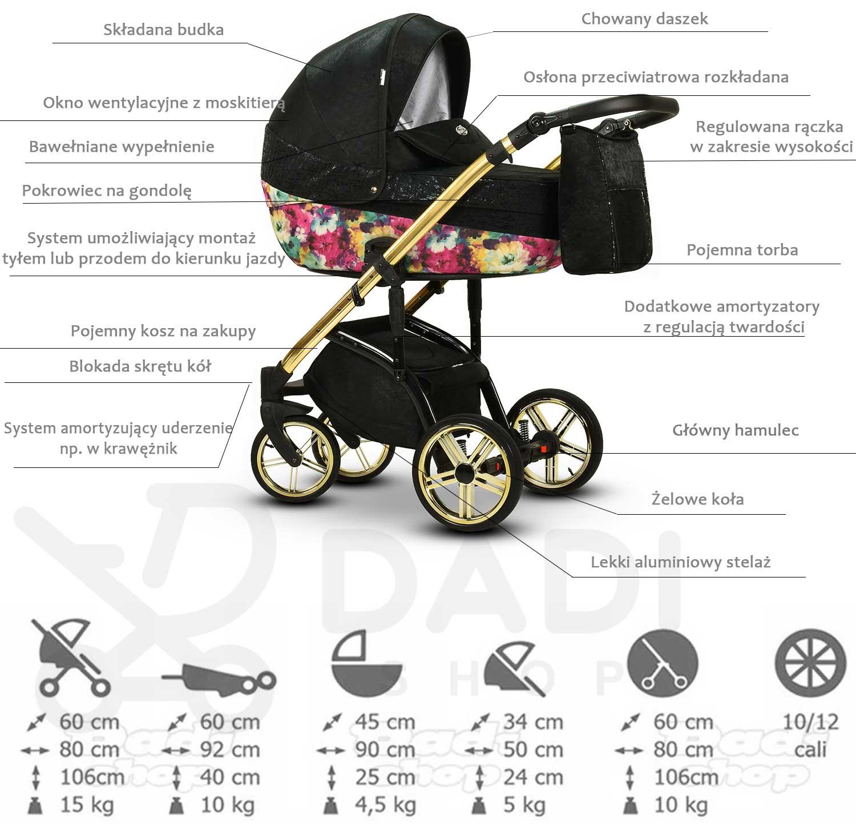 Molokai wózek dziecięcy wielofunkcyjny Wiejar nowoczesny opis wózka nowość Dadi Shop