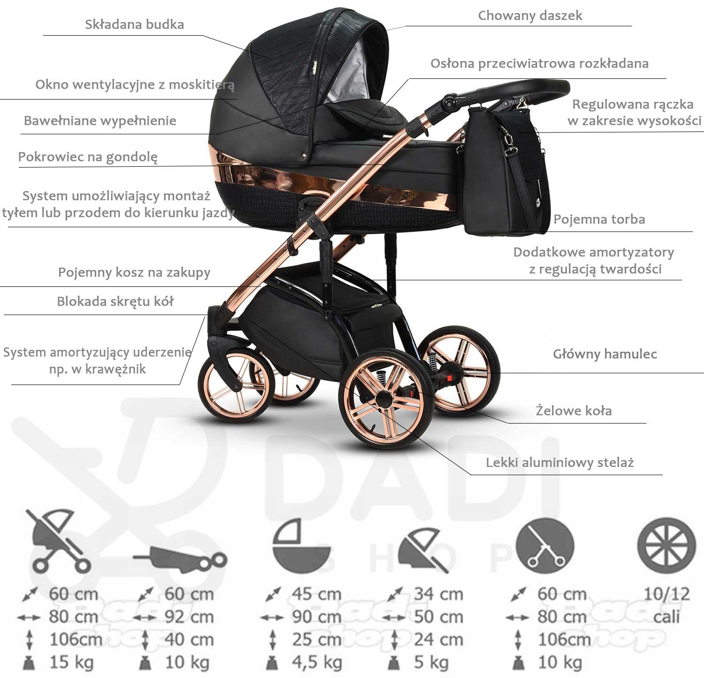 wielofunkcyjny wózek Monte Negro Wiejar opis wózka Dadi Shop