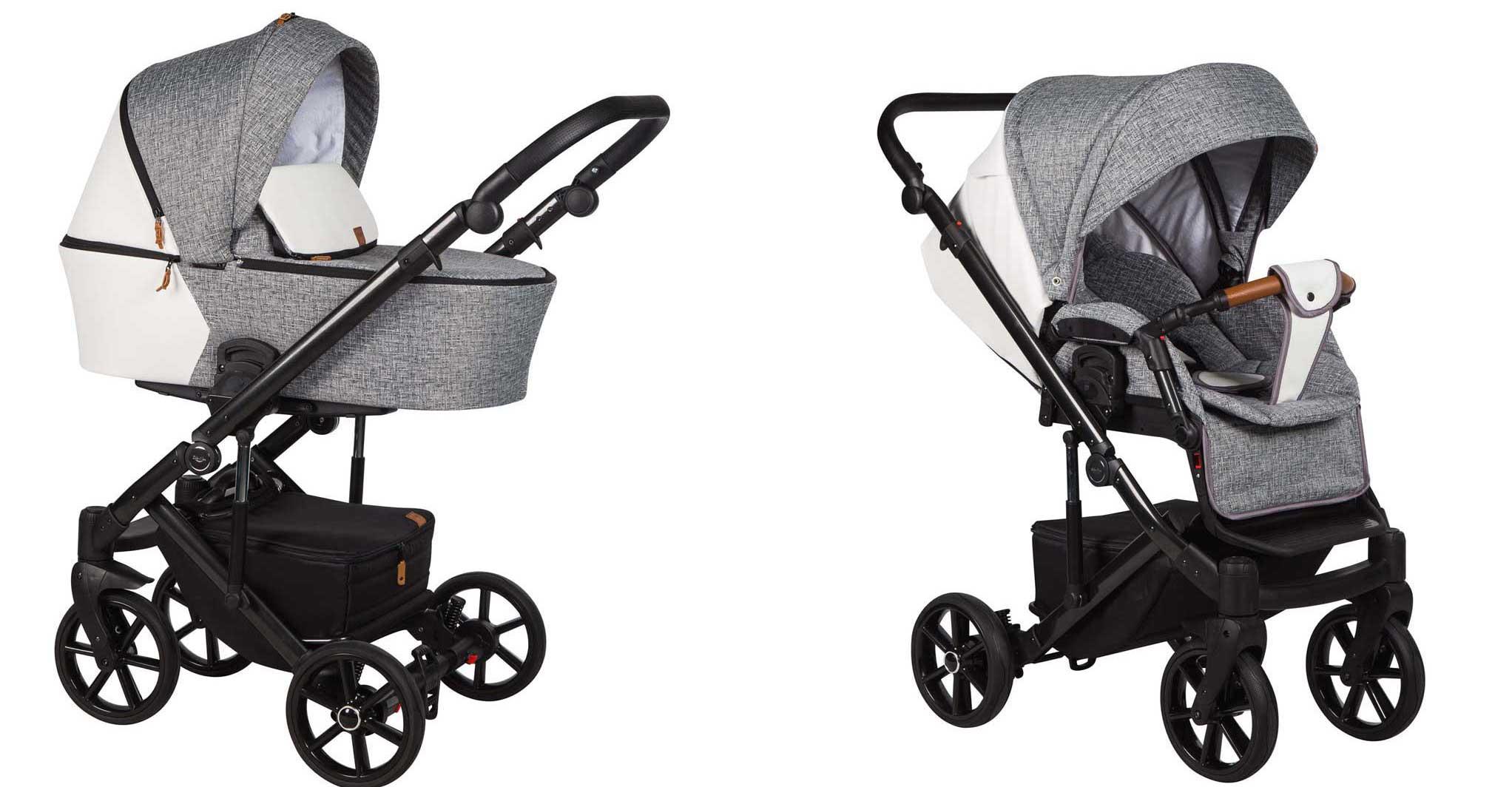 wózek dziecięcy Baby Merc Mosca LE gondola i spacerówka
