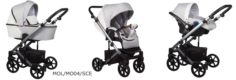 wózek Mosca LE Baby Merc szary