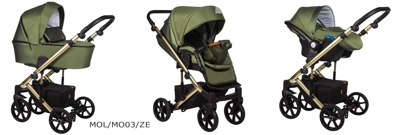 wózek baby Merc Mosca LE khaki