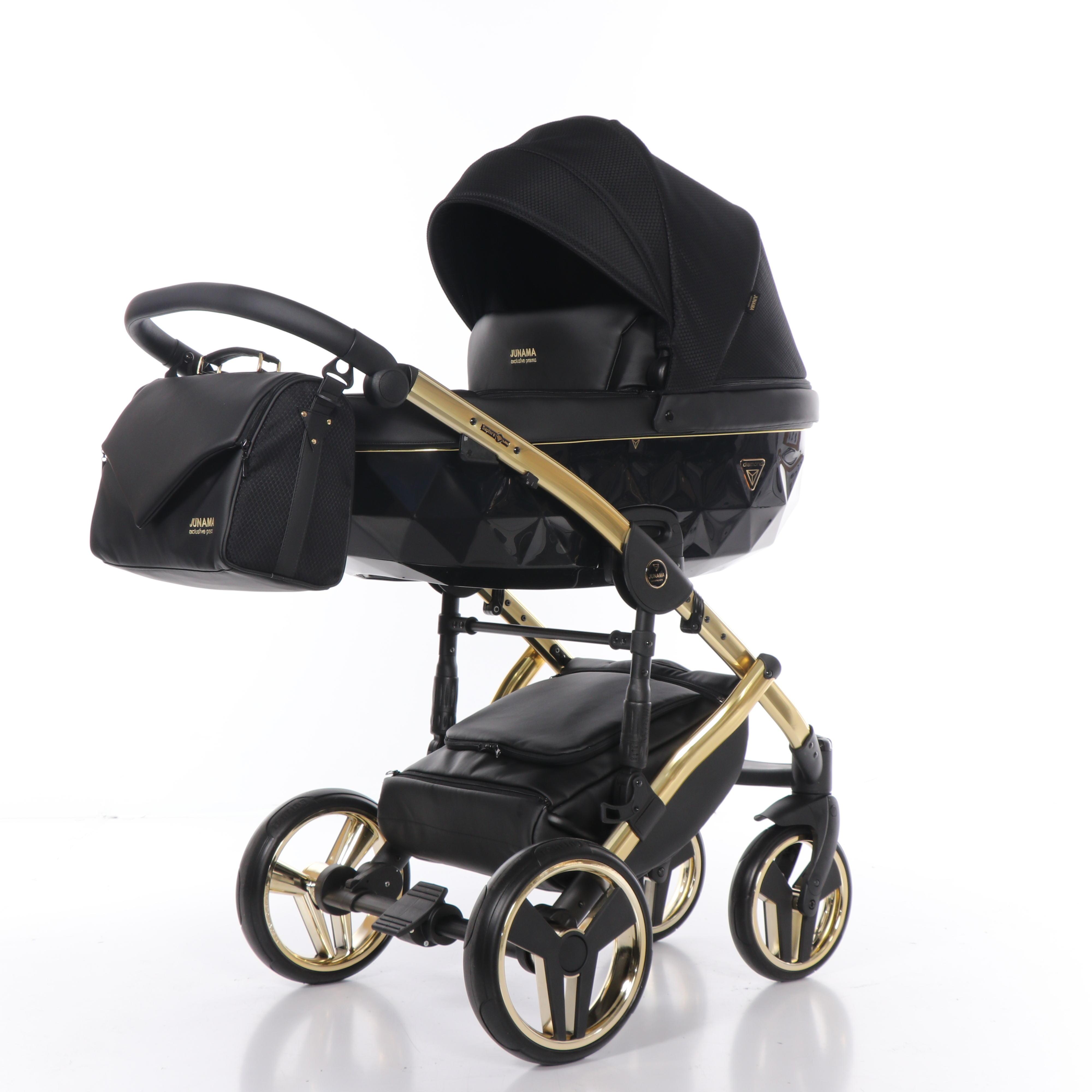 czarny elegancki wózek Saphire dzieciecy Junama Dadi Shop