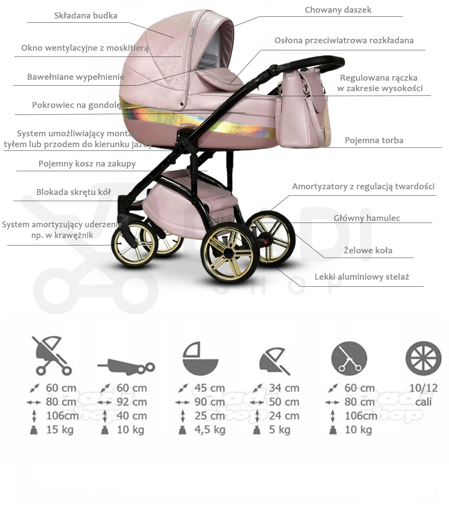 wózek dziecięcy Summer Queen Wiejar opis