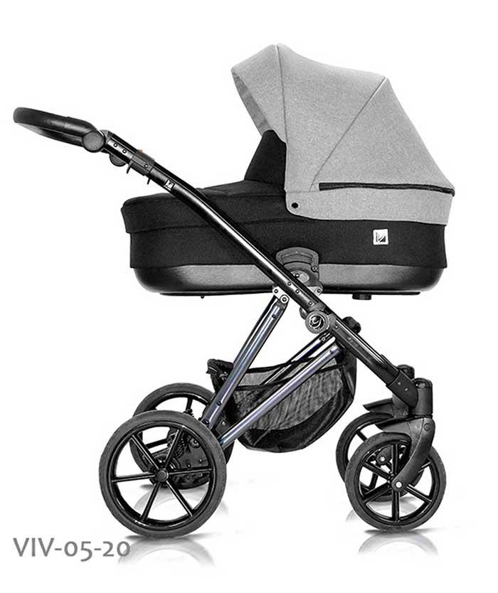 wózek dzieciecy Vivaio Less Milu Kids szaro czarny