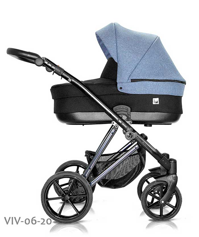 wózek dzieciecy Vivaio Less Milu Kids niebieski