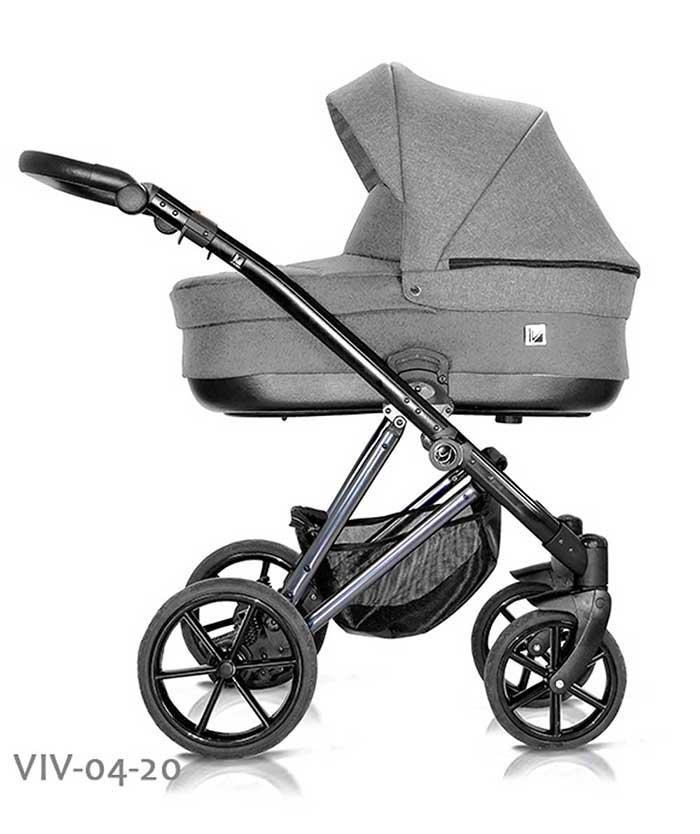wózek dzieciecy Vivaio Less Milu Kids szary
