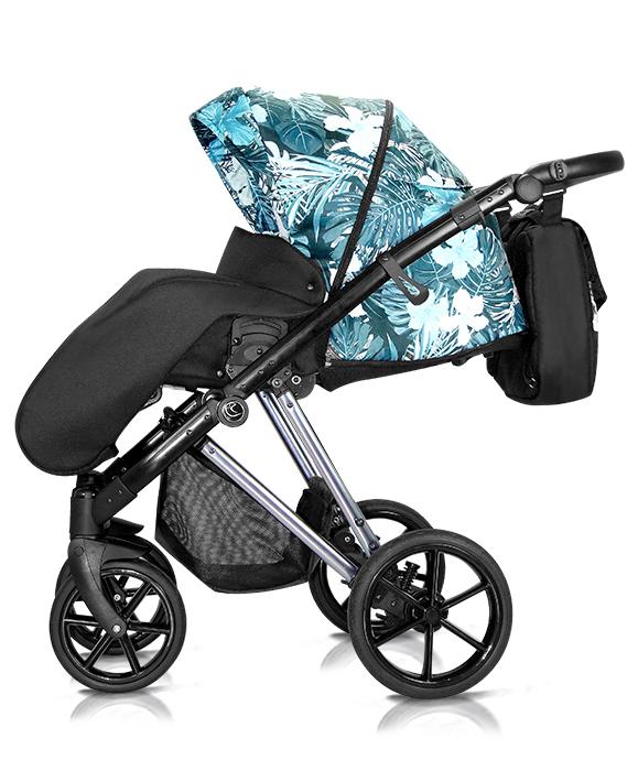 wózek dzieciecy Vivaio Less wielofunkcyjny Milu Kids spacerówka w kwiaty Dadi Shop