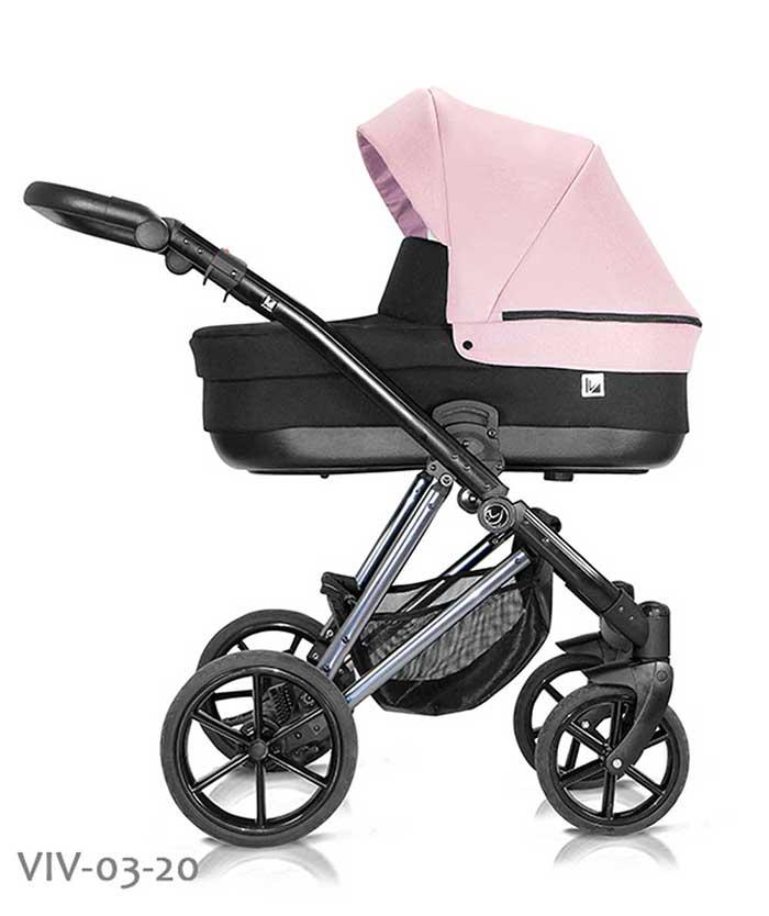 wózek dzieciecy Vivaio Less Milu Kids różowy