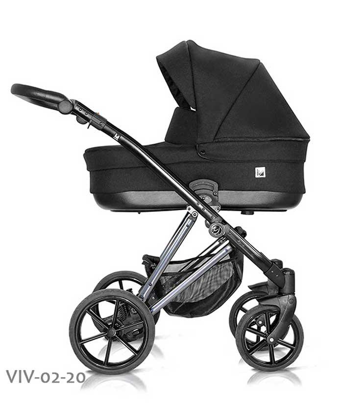 wózek dzieciecy Vivaio Less Milu Kids czarny