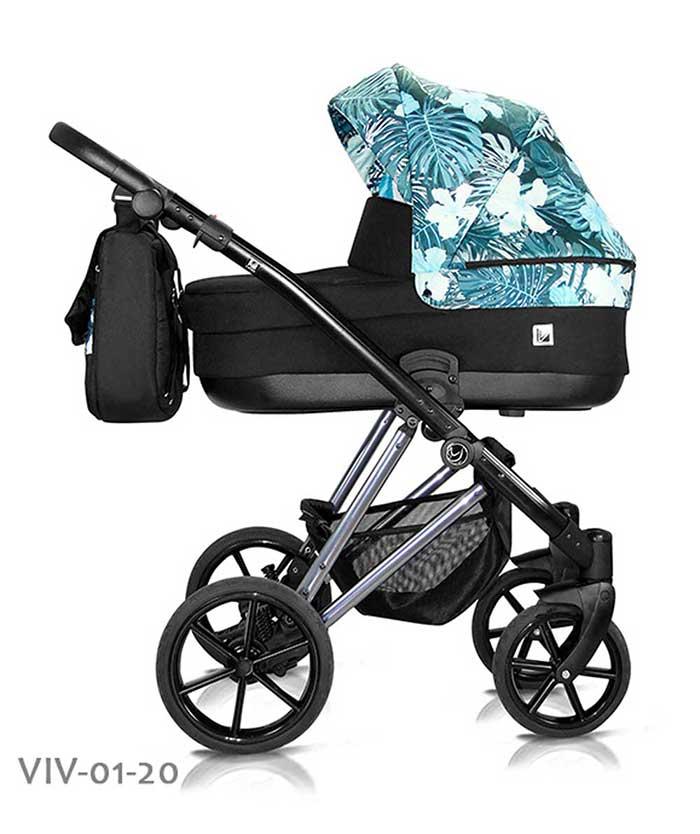 wózek dzieciecy Vivaio Less Milu Kids w kwiaty
