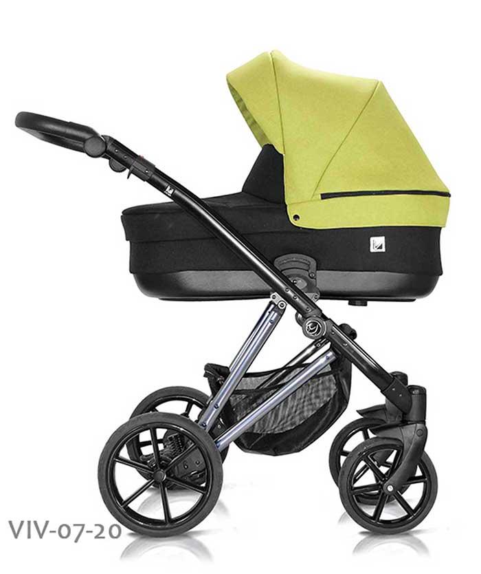 wózek dzieciecy Vivaio Less Milu Kids żółty