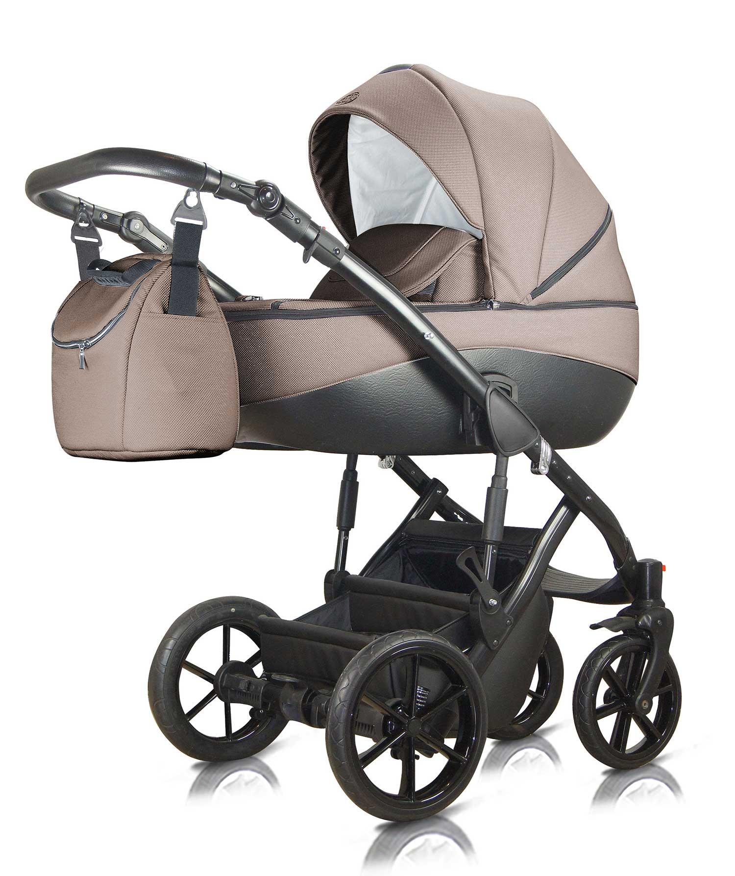 wózek dziecięcy wielofunkcyjny Milu Kids Bacio karmel