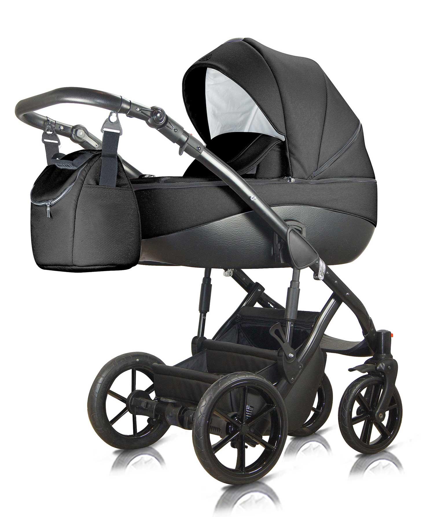 wózek dziecięcy wielofunkcyjny Milu Kids Bacio czarny