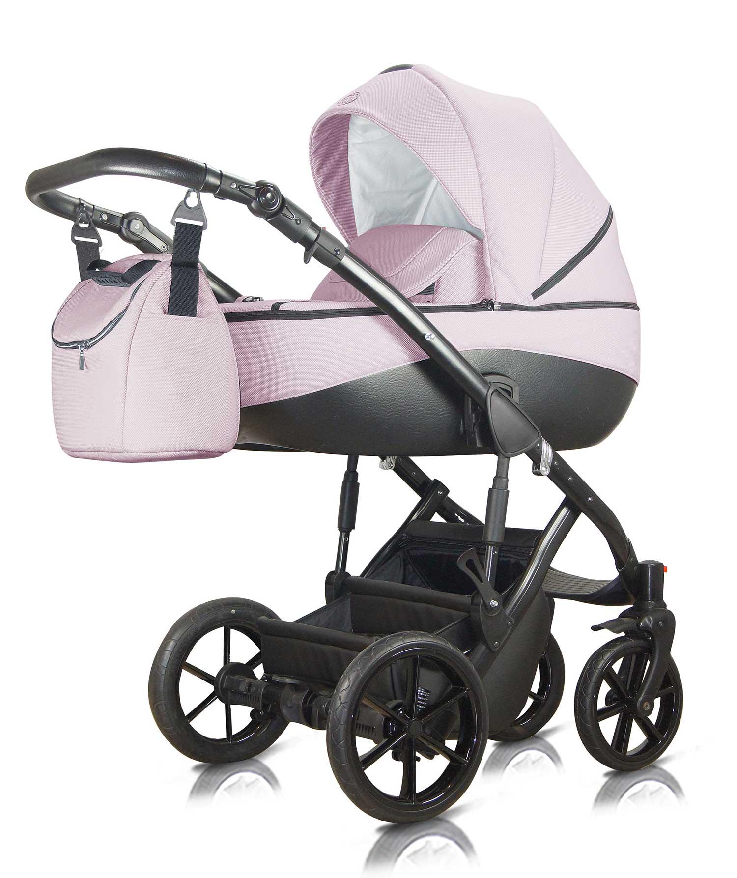 Bacio Milu Kids różowy wózek dziecięcy wielofunkcyjny