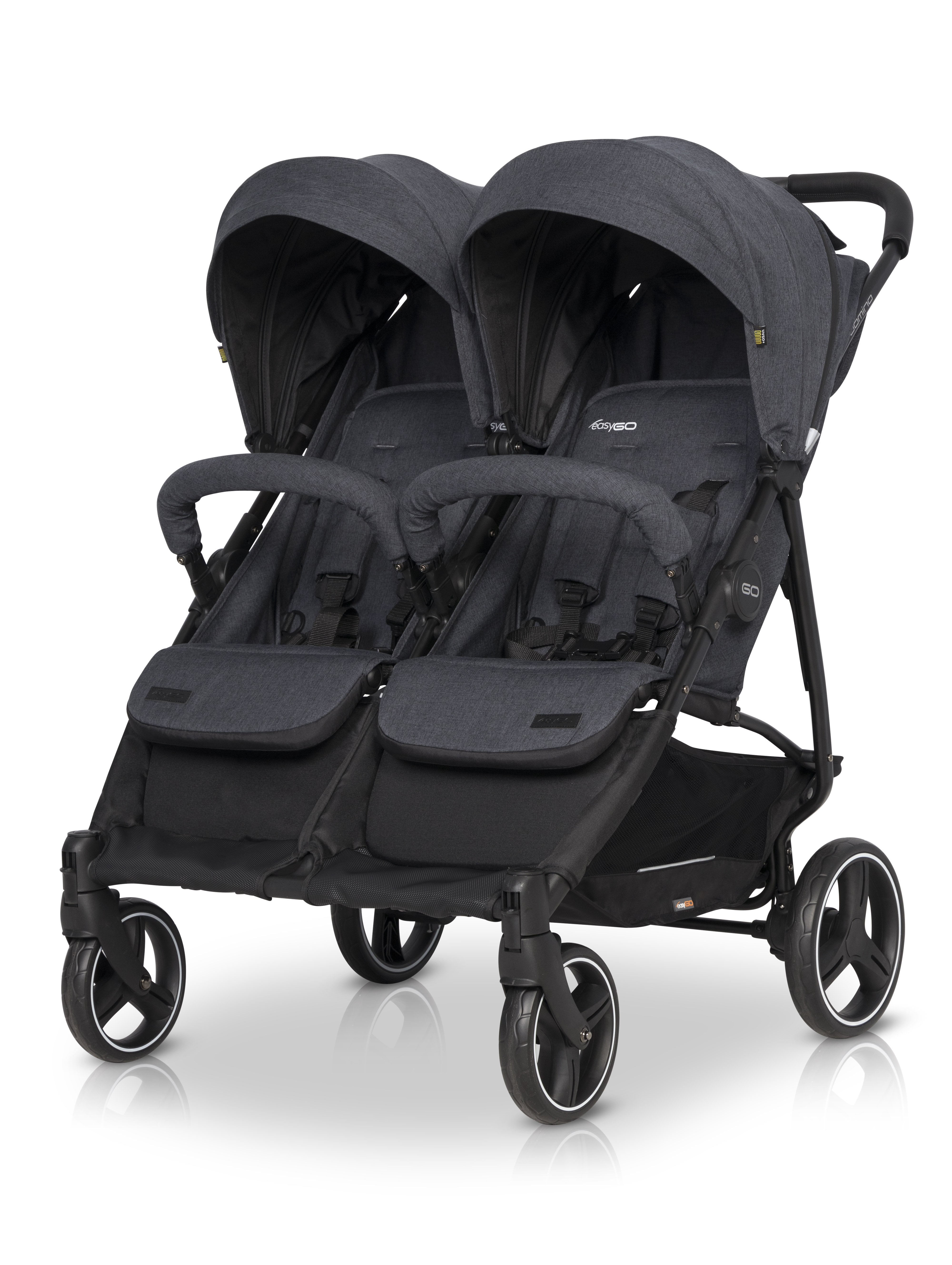 wózek EasyGo bliźniaczy Domino Coal