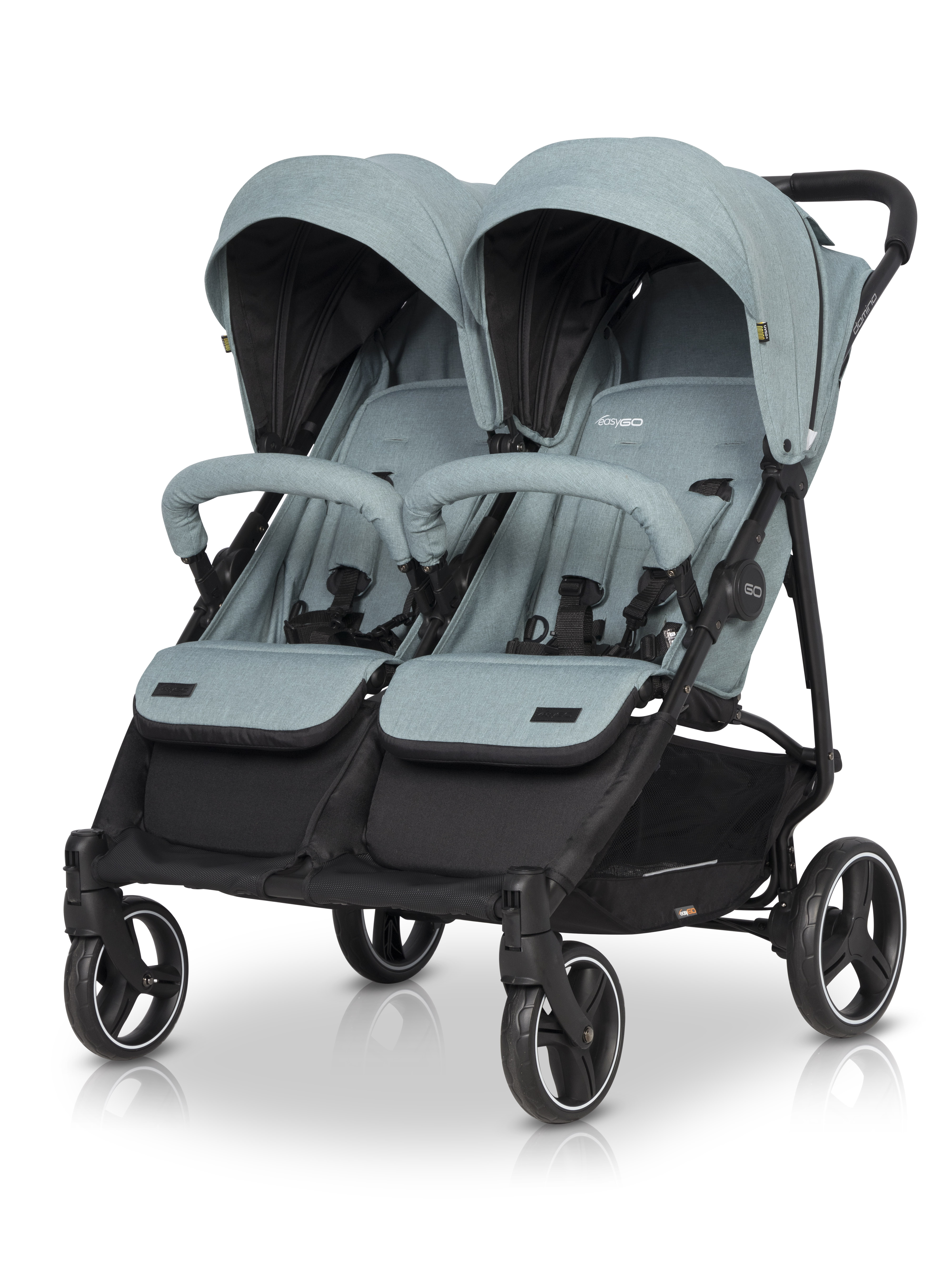 EasyGo Domino blixniaczy wózek dziecięcy mineral