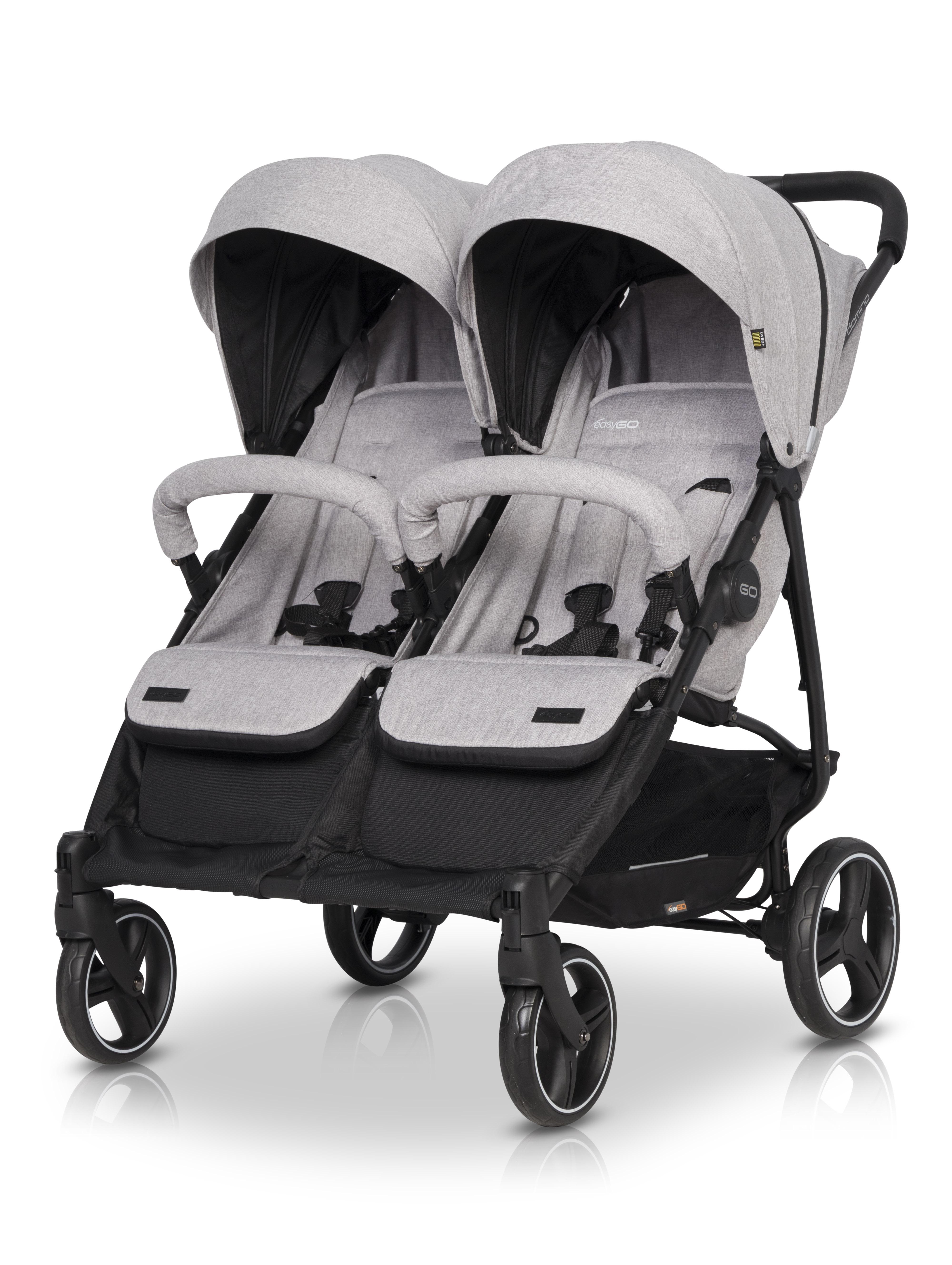EasyGo Domino Pearl wózek bliźniaczy