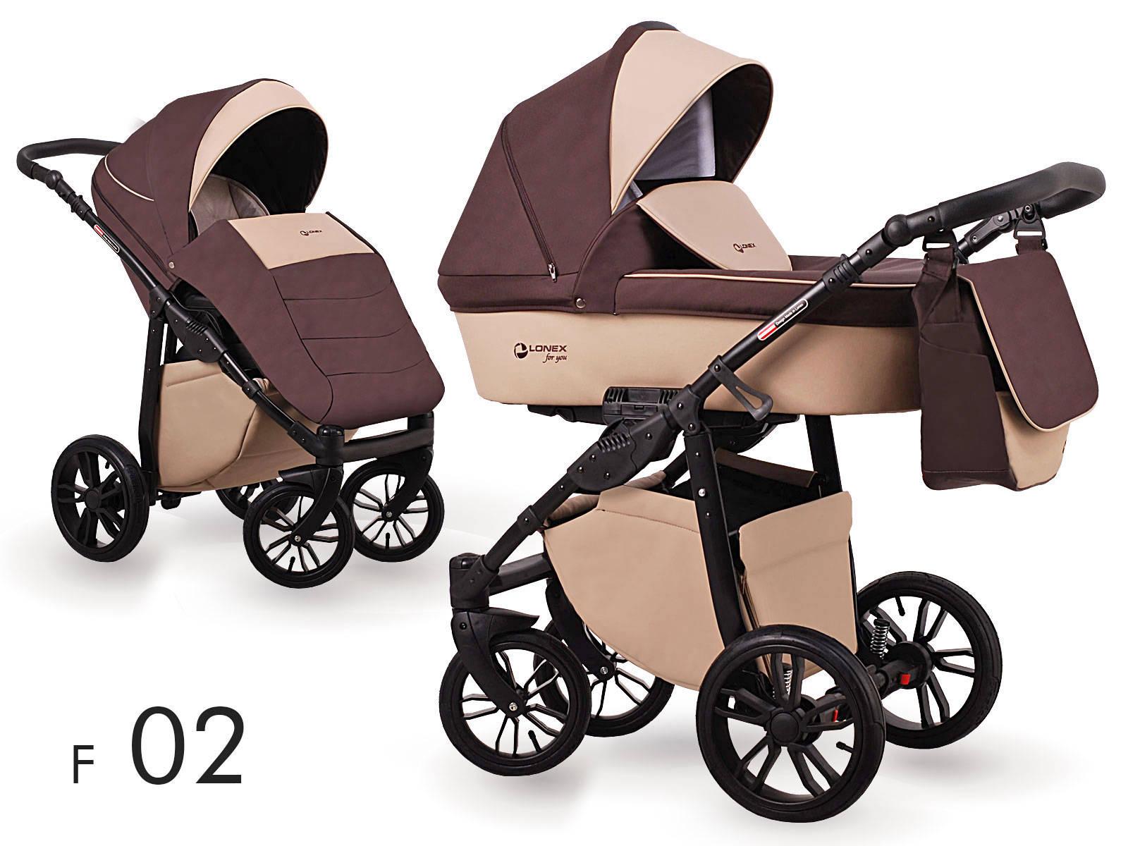 wózek dziecięcy brązowy Lonex First